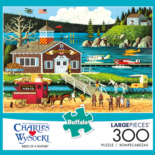 Charles Wysocki Birds Of A Feather 300 Piece Jigsaw Puzzle Box