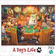 A Dog's Life Poker Pups 750 Piece  Box