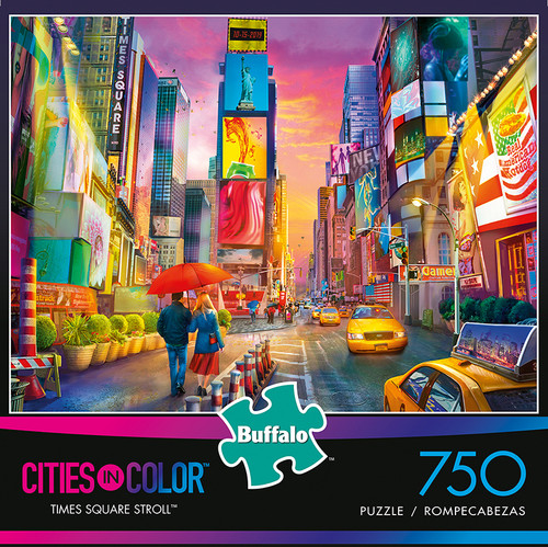 Cities in Color Times Square Stroll 750 Piece Jigsaw Puzzle Box