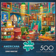Americana Collection Corner Bookstore 500 Piece Jigsaw Puzzle Box