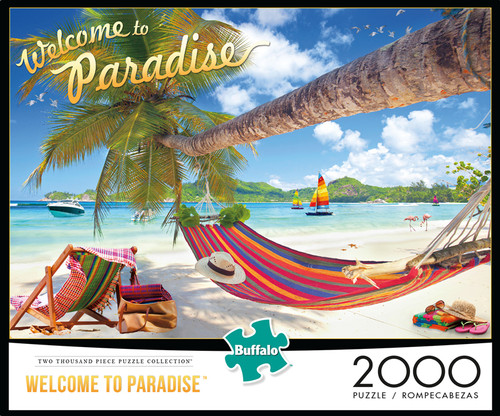 Welcome To Paradise 2000 Piece Jigsaw Puzzle Box