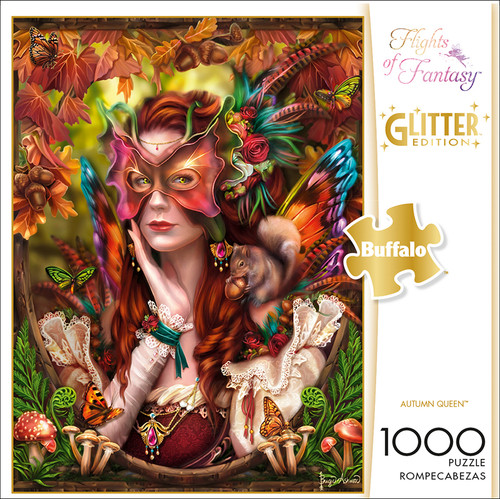 Flights of Fantasy Autumn Queen 1000 Piece Jigsaw Puzzle Box