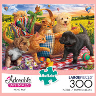 Adorable Animals Picnic Pals 300 Large Piece Jigsaw Puzzle Box