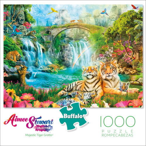 Aimee Stewart Majestic Tiger Grotto 1000 Piece Jigsaw Puzzle Box