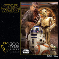 Star Wars™ Chewbacca™ and the Droids 300 Large Piece Jigsaw Puzzle Box