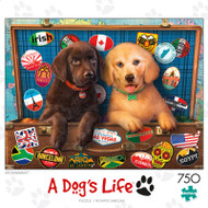 A Dogs Life Stowaways 750 Piece Jigsaw Puzzle Box