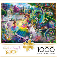 Flights of Fantasy Dragon's Garden 1000 Piece Jigsaw Puzzle Box