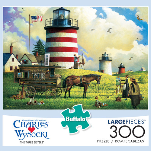Charles Wysocki The Three Sisters 300 Piece Jigsaw Puzzle Box