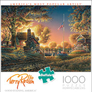 Terry Redlin Good Evening America 1000 Piece Jigsaw Puzzle Box