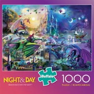 Night & Day Dragon Race Into The Night 1000 Piece Jigsaw Puzzle Box