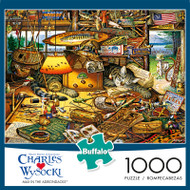 Charles Wysocki Max in the Adirondacks 1000 Piece Jigsaw Puzzle Box