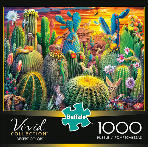 Vivid Stained Desert Color 1000 Piece Jigsaw Puzzle Box
