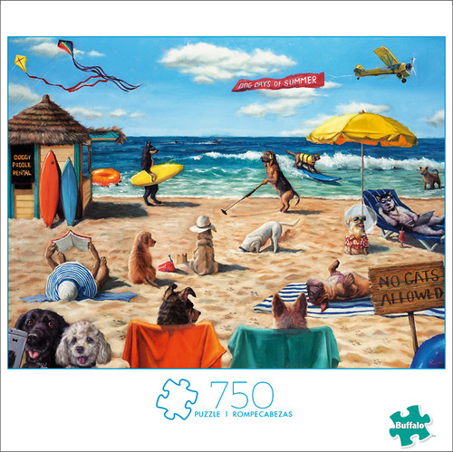 Art of Play Dog Days Of Summer 750 Piece Jigsaw Puzzle Box