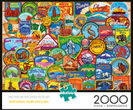 National Park Patches 2000 Piece Jigsaw Puzzle Box