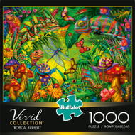 Vivid Tropical Forest 1000 Piece Jigsaw Puzzle Box