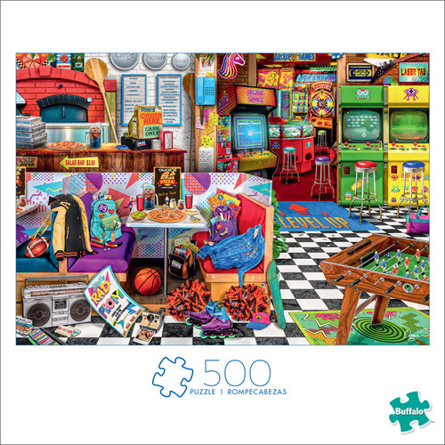 Art of Play Aimee Stewart Pixels & Pizza 500 Piece Jigsaw Puzzle Box