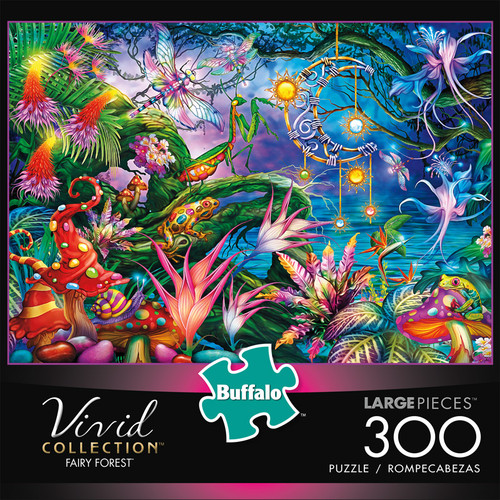 Vivid Fairy Forest 300 Piece Jigsaw Puzzle Box