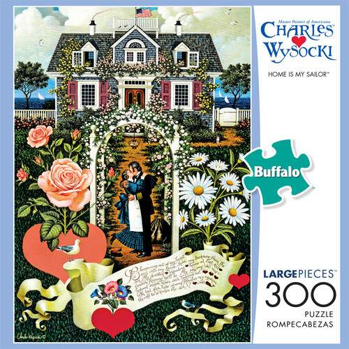 Charles Wysocki Home Is My Sailor 300 Piece Jigsaw Puzzle Box