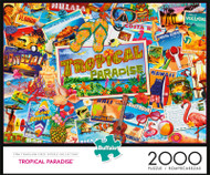 Tropical Paradise 2000 Piece Jigsaw Puzzle Box