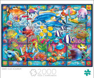 Art of Play Stained Glass Aquarium 2000 Piece Jigsaw Puzzle Box