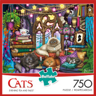 Cats Evening Tea & Tales 750 Piece Jigsaw Puzzle Box