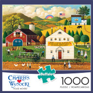 Charles Wysocki House Movers 1000 Piece Jigsaw Puzzle Box