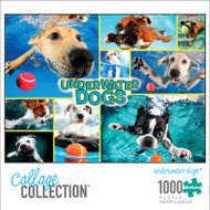 Collage Collection Underwater Dogs 1000 Piece Jigsaw Puzzle Box