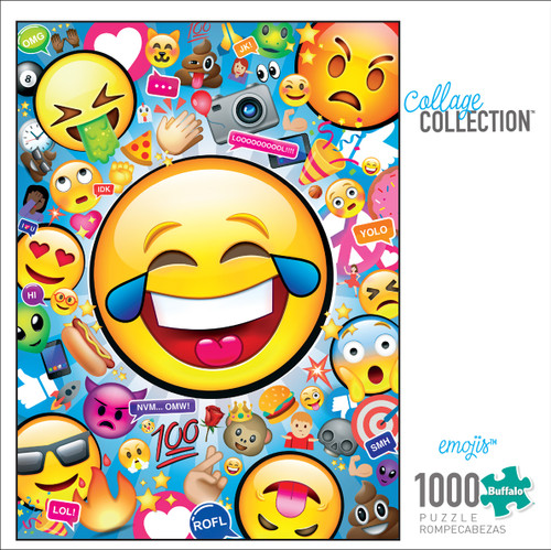 Collage Collection EMOJIS 1000 Piece Jigsaw Puzzle box