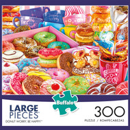 300 Piece Donut Worry, Be Happy! box