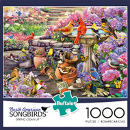 North American Songbirds Spring Clean Up 1000 Piece Jigsaw Puzzle Box