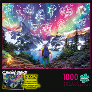 Special Effects Zodiac Mountain Glow in the Dark 1000 Piece Jigsaw Puzzle Box