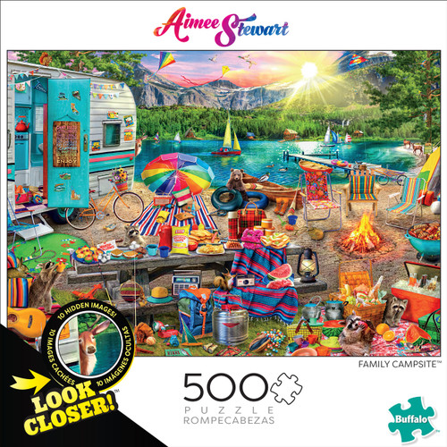 Look Closer Family Campsite 500 Piece Box