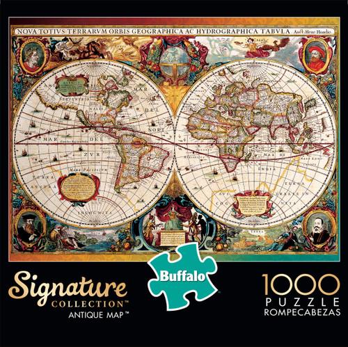 Signature Collection Antique Map 1000 Piece Box