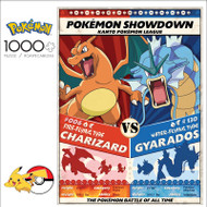 POKÉMON Showdown: Charizard V. Gyarados 1000 Piece Jigsaw Puzzle Box