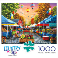 Country Life Farmer's Market 1000 Piece Jigsaw Puzzle Box