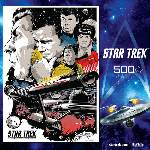 """Star Trek™ """"To Boldly Go Where No Man Has Gone Before"""" 500 Piece Jigsaw Puzzle Box"""