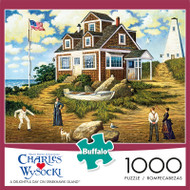 Charles Wysocki A Delightful Day On Sparhawk Island 1000 Piece Jigsaw Puzzle Box