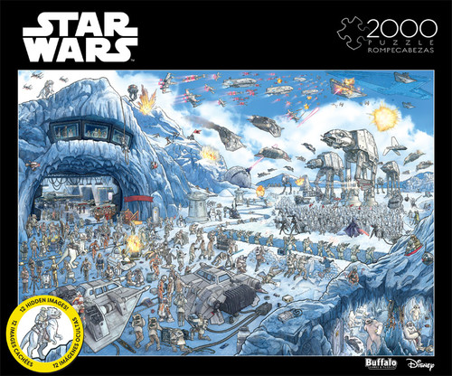 Star Wars™ Search Inside: Battle of Hoth 2000 Piece Jigsaw Puzzle Box