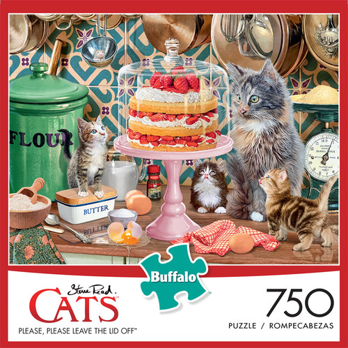 Cats Please, Please Leave the Lid Off 750 Piece Jigsaw Puzzle Box