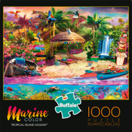 Marine Color Tropical Island Holiday 1000 Piece Jigsaw Puzzle Box