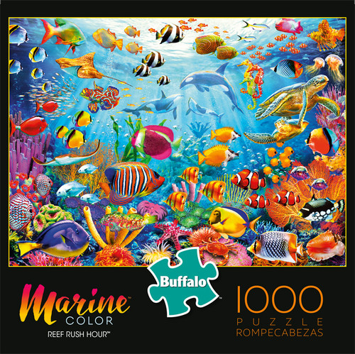 Marine Color Reef Rush Hour 1000 Piece Jigsaw Puzzle Box
