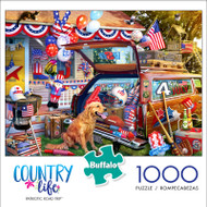 Country Life Patriotic Road Trip 1000 Piece Jigsaw Puzzle Box