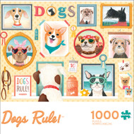Contemporary Collection Dogs Rule 1000 Piece Jigsaw Puzzle Front