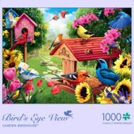 Bird's Eye View Garden Birdhouse 1000 Piece Jigsaw Puzzle Front