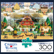 Charles Wysocki Melodrama in the Mist 300 Large Piece Jigsaw Puzzle Box