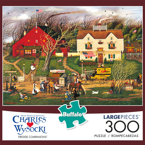 Charles Wysocki Fireside Companions 300 Large Piece Jigsaw Puzzle Front