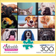 Adorable Animals Pet's Virtual Hangouts 300 Large Piece Jigsaw Puzzle Front