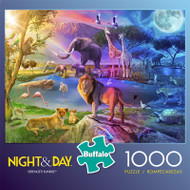 Night & Day Serengeti Sunset 1000 Piece Jigsaw Puzzle Front