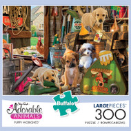 Adorable Animals Puppy Workshed 300 Large Piece Jigsaw Puzzle Front