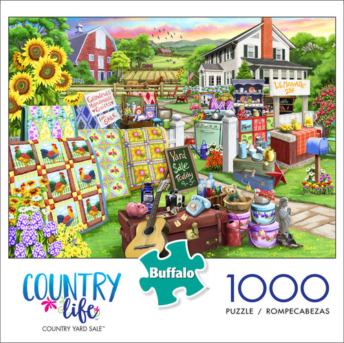 Country Life Country Yard Sale 1000 Piece Jigsaw Puzzle Front